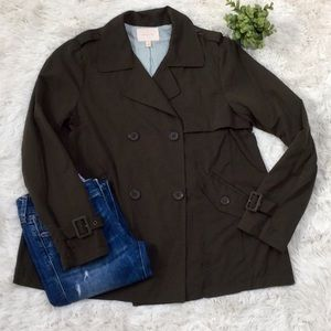 Skies Are Blue Trench Coat 💗 Olive